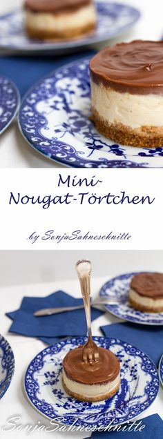 Mini nougat tartlets - Kuchen - Healt and fitness Mini Desserts, Fall Desserts, Chocolate Desserts, No Bake Desserts, Dessert Simple, Torte Au Chocolat, Nougat Torte, Dessert Oreo, Dessert Halloween