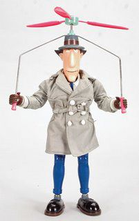 Inspector Gadget for reminding me you're never above hiding in a trash can. Also, you can solve anything with a trench coat and a helicopter hat.