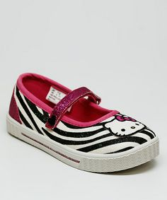 Take a look at this Zebra Lindy Lindy Flat by Hello Kitty on #zulily today!