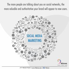 The more people are talking about you on social networks,  the more valuable and authoritative your brand will appear to new users.  For Inquiries: +91 9833219322 or visit: www.9dzine.com  #9dzine #socialmediamarketing #facebook #twitter #pinterest #instagram #google+
