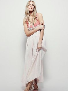 c0224a5c7f8d2 Free People Striped Embroidered Criss Cross Dress XS
