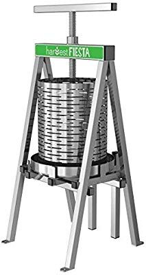 The Sausage Maker - Harvest Fiesta Stainless Steel 15 Liter Fruit and Wine Press Apple Cider Press, Making Apple Cider, Wine Press, Moonshine Still, Steel Railing, Cider House, Brewing Equipment, Cnc Plasma, Homemade Tools