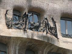 Casa Mila detail of balcony balustrade