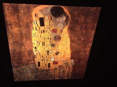 "Gustav Klimt ""The Kiss"" Austrian Art Nouveau 35mm Glass Art Slide  