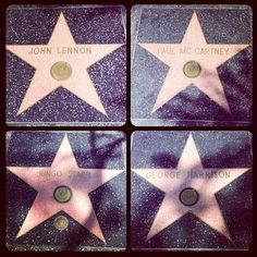 Who is your favorite Beatle? Mine is ??? :) All the Beatles stars on Hollywood Walk of Fame!