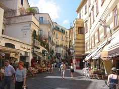 Oh did we find gorgeous Italian pottery on this street, and some of the best deals.  Amalfi, Italy.