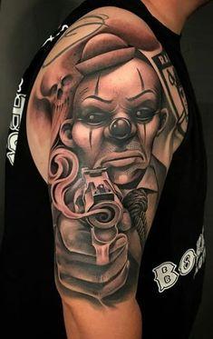 80 Tatuagens de Palhaço incríveis para você se inspirar - Fotos e Tatuagens