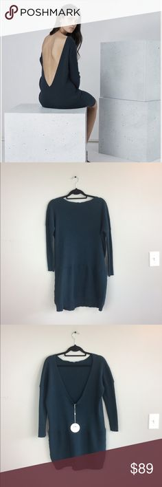 """Finders Keepers NWT Knit Sweater Tunic Top No flaws! Originally 189$. Will fit like a Tunic dress on a smaller person, but if your taller with curves it will be like a oversized sweater. 35"""" length. 16"""" back cutout length; No trades. Finders Keepers Sweaters Crew & Scoop Necks"""
