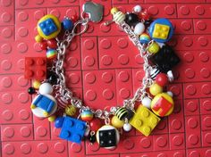 Lego charm bracelet for the moms of the lego enthusiasts