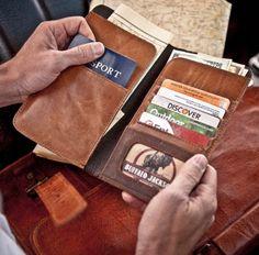 Passport Travel Wallet - Credit Card Slots