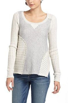 would be an interesting DIY ...Cross-Stitch Sectioned Pullover | Anthropologie.eu