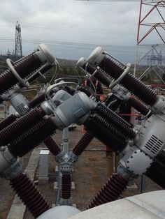 air blast breaker in the middle of a 24 year maintenance and refurb. Good times thirty feet off the ground. Engineering Technology, Electronic Engineering, Electrical Engineering, Electrical Substation, High Voltage, Electrical Wiring, 24 Years, Electric Power, Fighter Jets