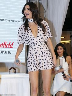 Kendall Jenner promotes new clothing range with sister Kylie | Daily Mail Online