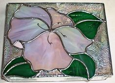 Stained Glass Jewelry Box Hibiscus 1 by glassmagic on Etsy, $59.00
