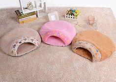 Hot Cama Para Mascotas Casa Cueva Igloo Bolsa Mat Gato Perro Bolsa De Dormir caliente Snuggle Saco