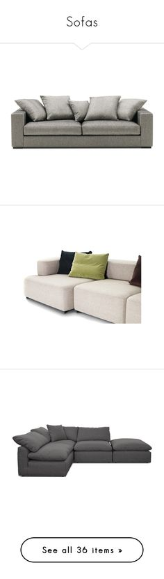 """""""Sofas"""" by riri-thatsme ❤ liked on Polyvore featuring home, furniture, sofas, sofa, 3 seater couch, three seater sofa, 3 seater sofa, grey, gray sofa and grey sectional"""