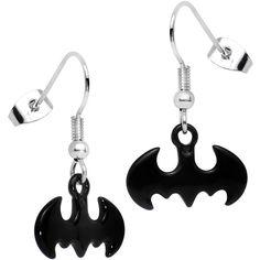 Officially Licensed Cut Out Logo Batman Dangle Earrings