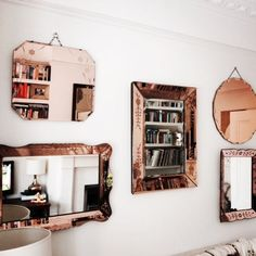 Rose gold mirrors:
