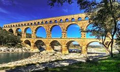 Languedoc-Roussillon Region of France (Pont du Gard), Montpellier, Cevennes, Carcassonne, and the Pyrenees. Le Gard, Pont Du Gard, West Virginia, Places Around The World, Around The Worlds, Gaia, Bosnia Y Herzegovina, Nimes France, Ontario