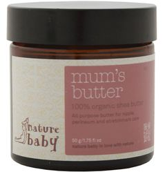 Organic Mum's Butter (100% pure shea butter) - can be used on belly as a massage cream, as a breast cream or for massaging the perineum