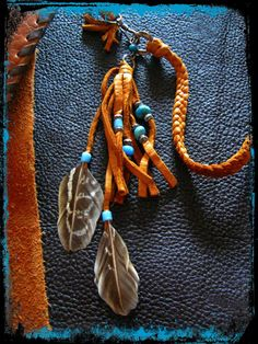 Bohemian Cowgirl and Indian Leather and Feather by LivingFreeByEP, $78.00