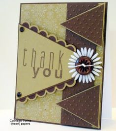 Great use of pendants on this thank you card!  Without the flower, a masculine card.