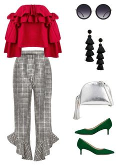 """789"" by nikasnow on Polyvore featuring мода, River Island, Erika Cavallini Semi-Couture, L.K.Bennett, Alice + Olivia, Loeffler Randall и BaubleBar"