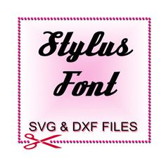 Script Font SVG  Font Design Files For Use With Your by SVGFILE