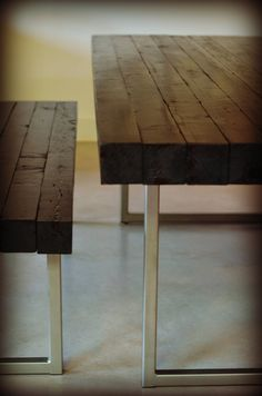 Square Steel Metal Legs Bench Coffee Console by CarbonSyndicate, $48.00