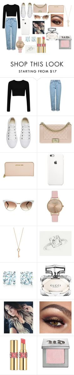 """Casual Day Out #2"" by anastasiazimonopoulos on Polyvore featuring Topshop, Converse, Chanel, Michael Kors, Gucci, Tiffany & Co., Novo, Yves Saint Laurent and Urban Decay"