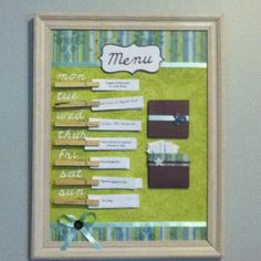 After seeing so many creative menu boards on Pintrest I decided to make my own!