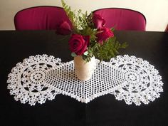 Diamond + circles table runner by ~argentinian-queen