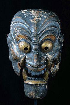 Old Japanese Bugaku Mask of Nasori, Japan