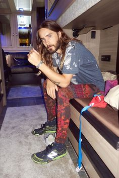 Jared on his tour bus #2