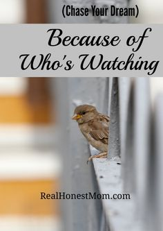 You never know who's watching you chase your dream and it may surprise you. Keep going!