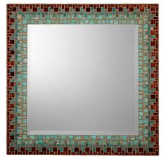 what about these colors? Mosaic Wall Mirror - Tiger's Eye Brown & Teal