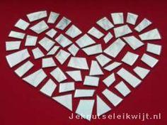 Valentijnknutsel mozaiek hart