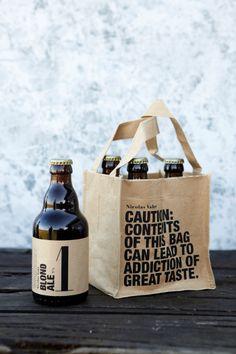 Curiosa cesta para cervezas, buena idea