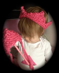 Knitted Tiara and Wand by MizMizaBella on Etsy, $14.00