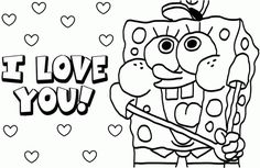 Coloring Pages For Teenagers Spongebob Valentine Colouring
