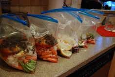 Moroccan Lamb, Italian Beef and Cranberry Chicken Freezer Meals