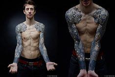Dotwork sleeves, chest, and back   Nazareno Tubaro - Imgur