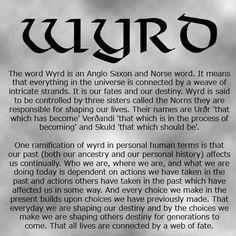 Interesting belief/ philosophy. ( not mine) Prounounced like 'Weird'