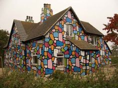 Multicolored house. Need to send this to Kaire!