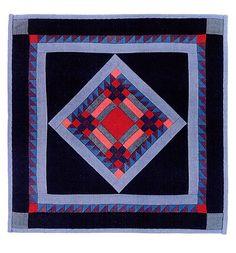 Kate Adams Fine Miniature Quilts -- LOVE the colors Amische Quilts, Sampler Quilts, Mini Quilts, Quilting Projects, Quilting Designs, Amish Quilt Patterns, Primitive Quilts, Medallion Quilt, Miniature Quilts