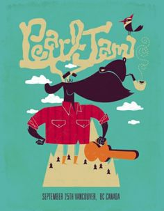 2009 PEARL JAM VANCOUVER 9/25/09 POSTER