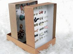 Transforme Caixas de Sapatos em Porta brincos