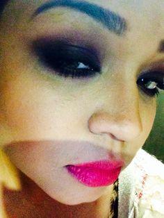 Purple dramatic make up