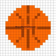 Minecraft Pixel Art Templates: Basketball