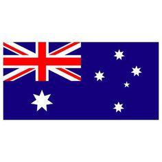 "Australia Flag with Stick | 4"""" x 6"""""